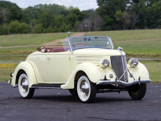 1936 Ford V-8 Deluxe Roadster (68-710) retro 2 wallpaper