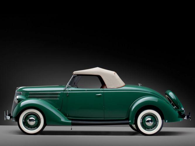 1936 Ford V-8 Deluxe Roadster (68-710) retro e wallpaper