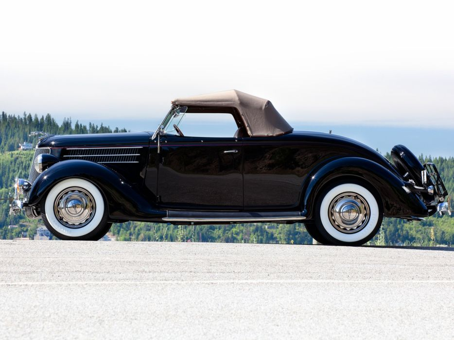 1936 Ford V-8 Deluxe Roadster (68-710) retro ew wallpaper
