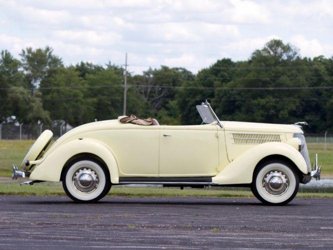 1936 Ford V-8 Deluxe Roadster (68-710) retro wq wallpaper