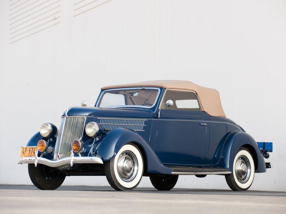 1936 Ford V-8 Deluxe Roadster (68-710) retro g wallpaper