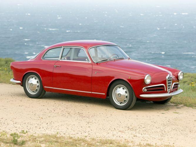 1956 Alfa Romeo Giulietta Sprint Veloce Alleggerita (750) retro f wallpaper