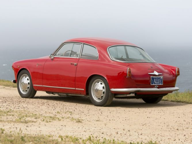 1956 Alfa Romeo Giulietta Sprint Veloce Alleggerita (750) retro d wallpaper
