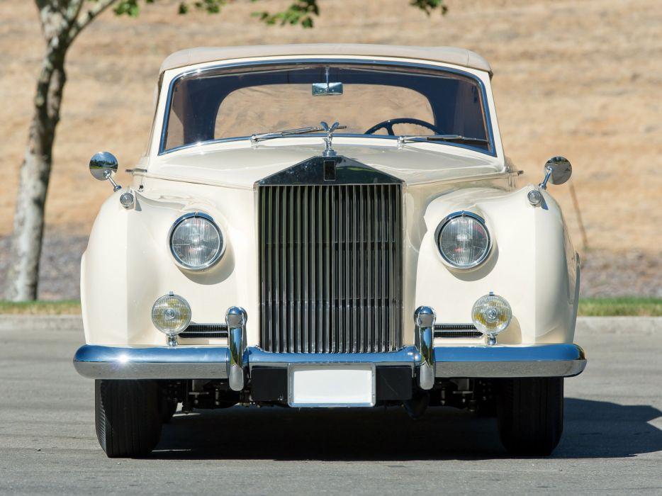 1959 Rolls Royce Silver Cloud Drophead Coupe luxury retro d wallpaper