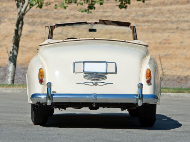 1959 Rolls Royce Silver Cloud Drophead Coupe luxury retro e wallpaper