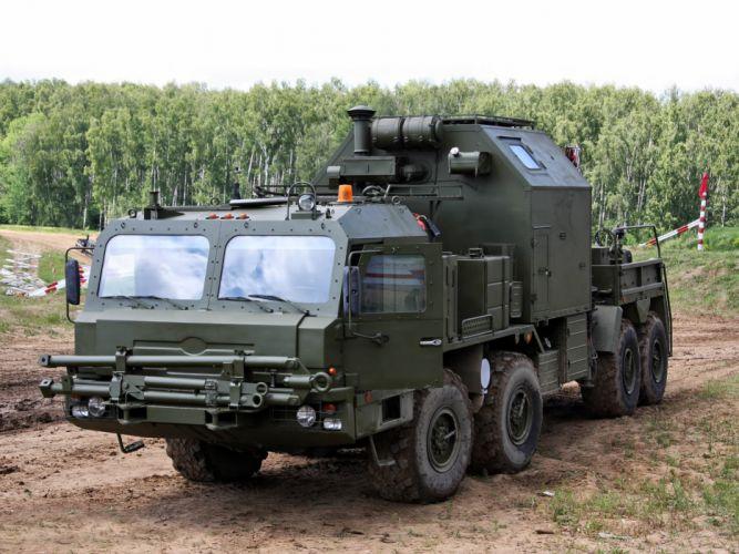 SEM-CC chassis BZKT 6910 military emergency towtruck russian semi tractor d wallpaper