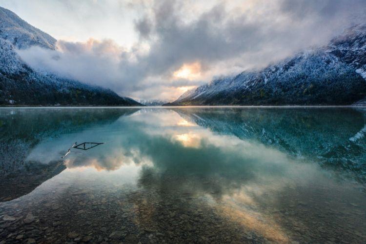 Austria Lake Mountains Tirol wallpaper