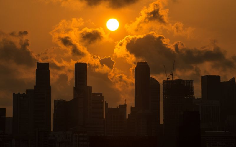 BuildingsSkyscrapers Sunlight Clouds wallpaper