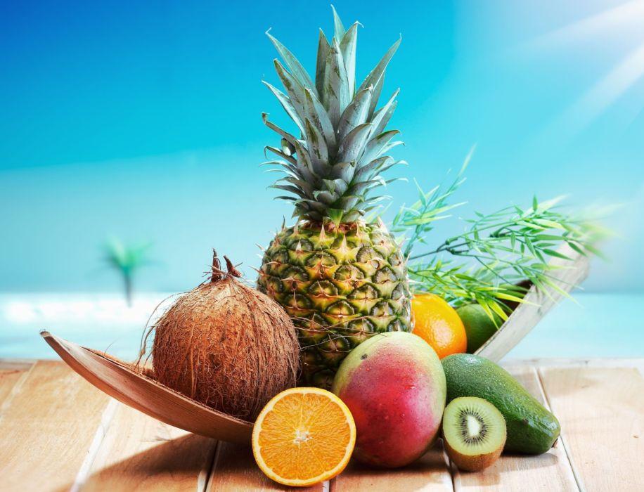 coconut apelysin pineapple kiwi wallpaper