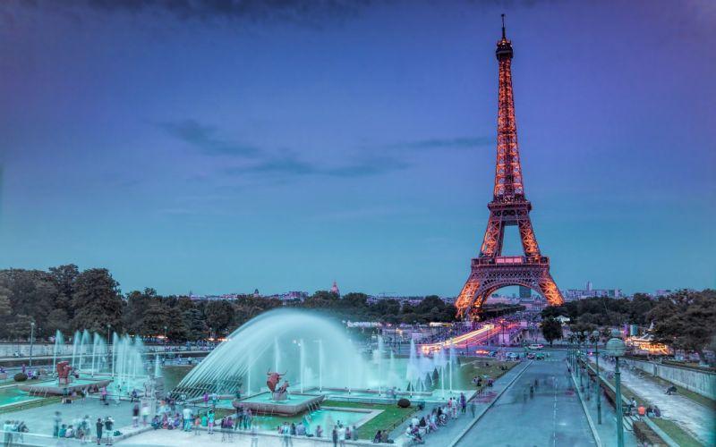Eiffel TowerTower Paris Fountain wallpaper