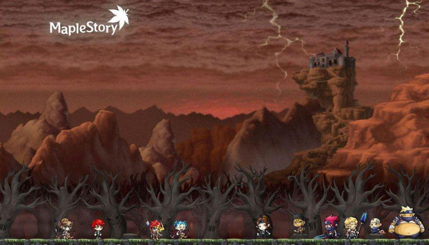 MAPLESTORY mmo online rpg scrolling fantasy 2-d family maple story (11) wallpaper