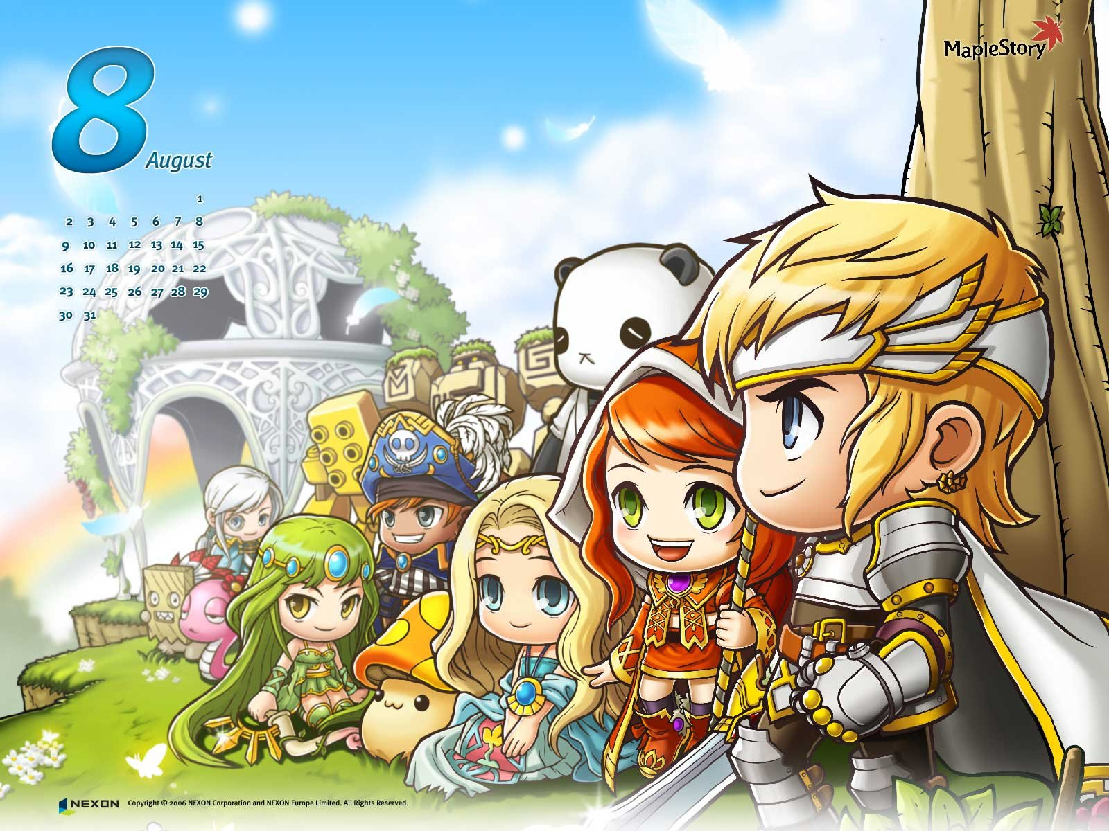 Maplestory Mmo Online Rpg Scrolling Fantasy 2 D Family Maple Story Wallpaper 1600x10 Wallpaperup