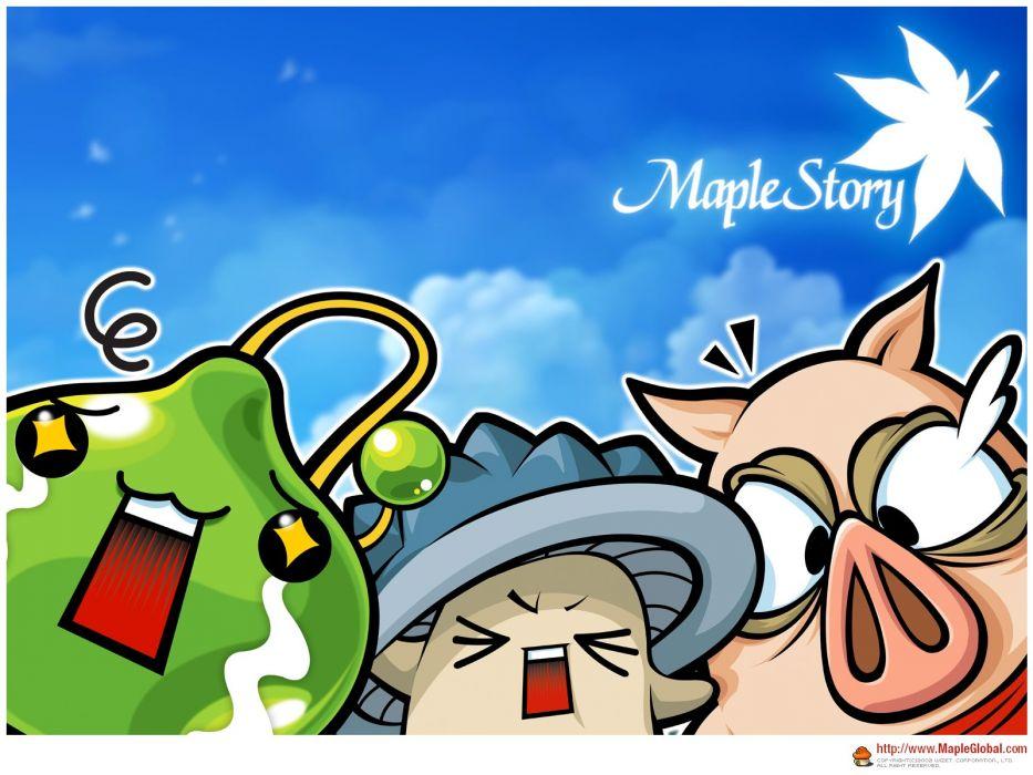 MAPLESTORY mmo online rpg scrolling fantasy 2-d family maple story wallpaper