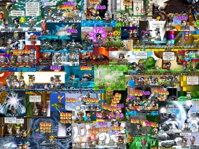 MAPLESTORY mmo online rpg scrolling fantasy 2-d family maple story (83) wallpaper