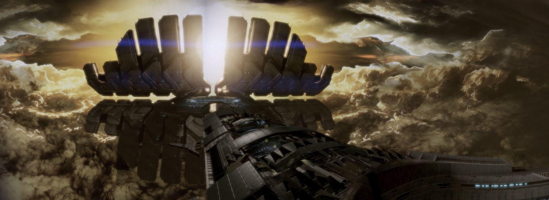 mass effect ship spaceship sci-fi wallpaper