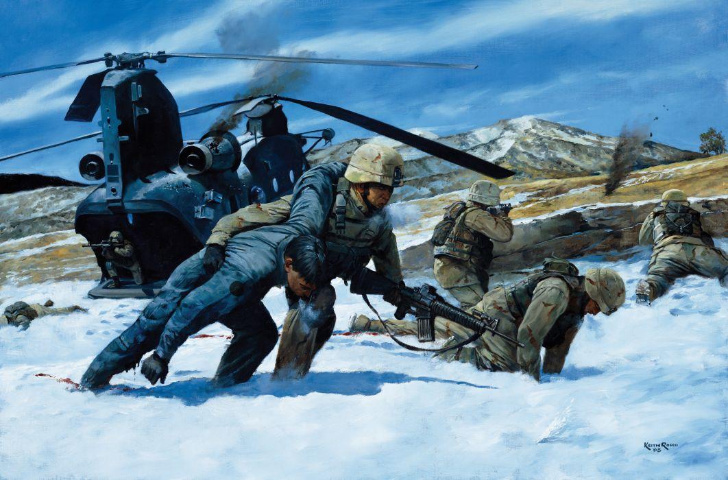 military art united states america artwork war (5) wallpaper