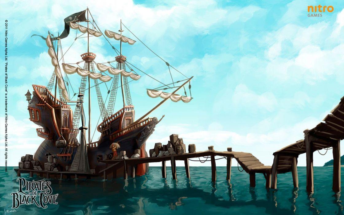 PIRATES-OF-BLACK-COVE arcade fantasy pirate real-time strategy adventure pirates blaxk cove (13) wallpaper