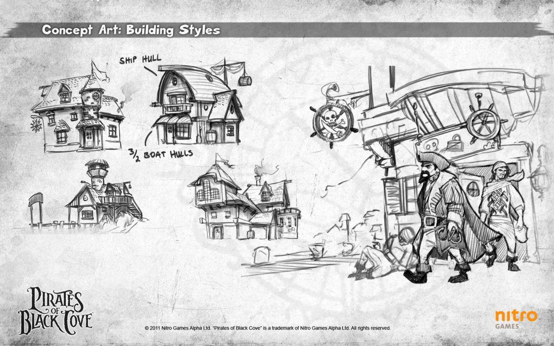PIRATES-OF-BLACK-COVE arcade fantasy pirate real-time strategy adventure pirates blaxk cove (14) wallpaper