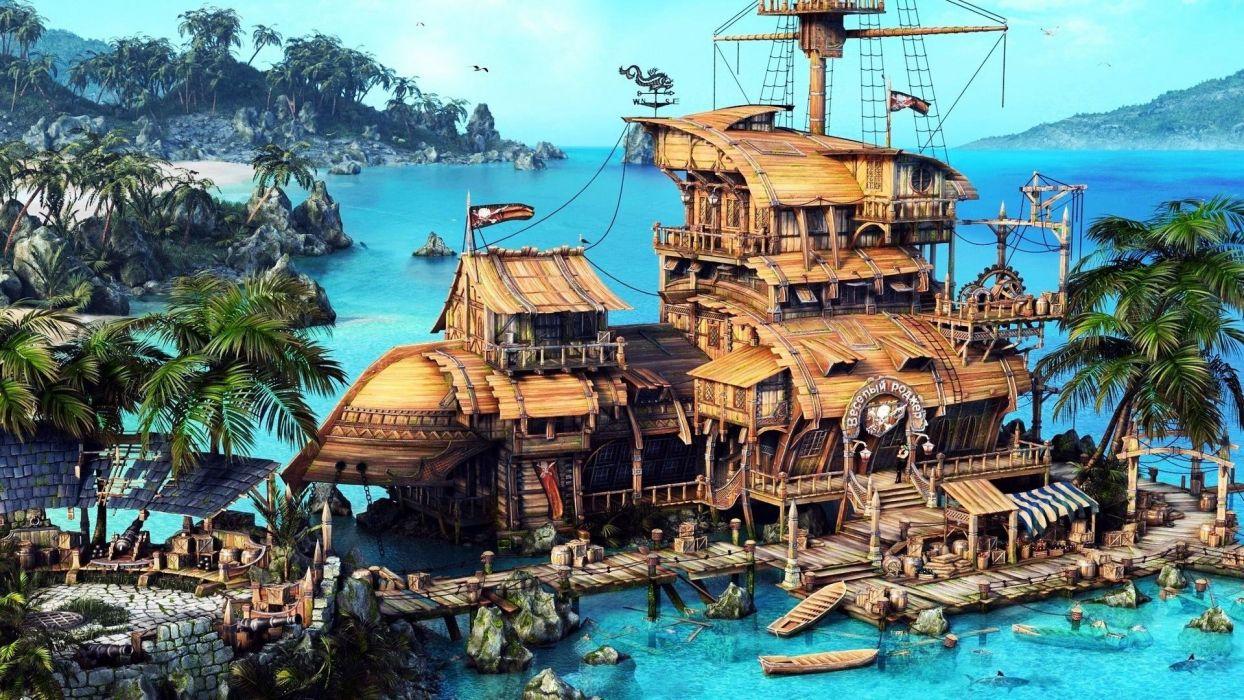 PIRATES-OF-BLACK-COVE arcade fantasy pirate real-time strategy adventure pirates blaxk cove (26) wallpaper
