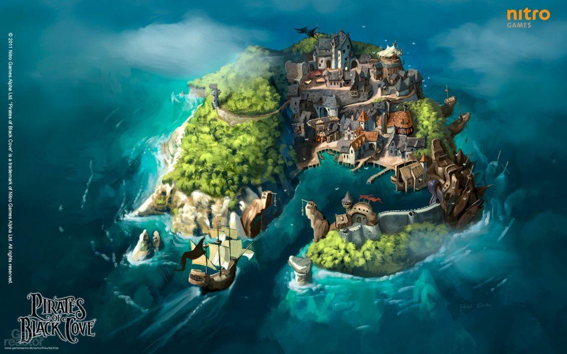 PIRATES-OF-BLACK-COVE arcade fantasy pirate real-time strategy adventure pirates blaxk cove (4) wallpaper