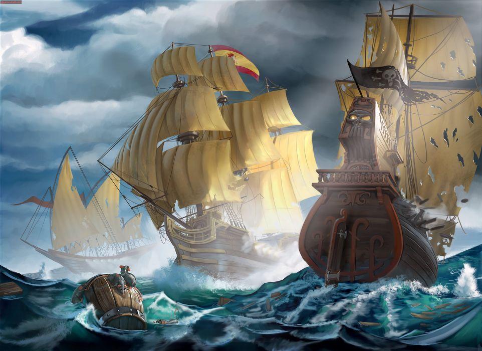 PIRATES-OF-BLACK-COVE arcade fantasy pirate real-time strategy adventure pirates blaxk cove (19) wallpaper