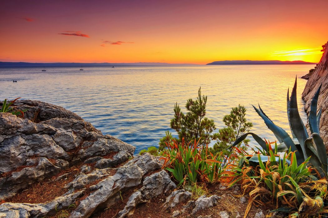 Romania Coast Sunrises and sunsets Transylvania Nature wallpaper