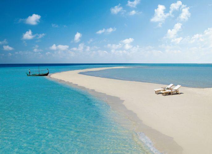 sea ocean Maldives sky beach wallpaper