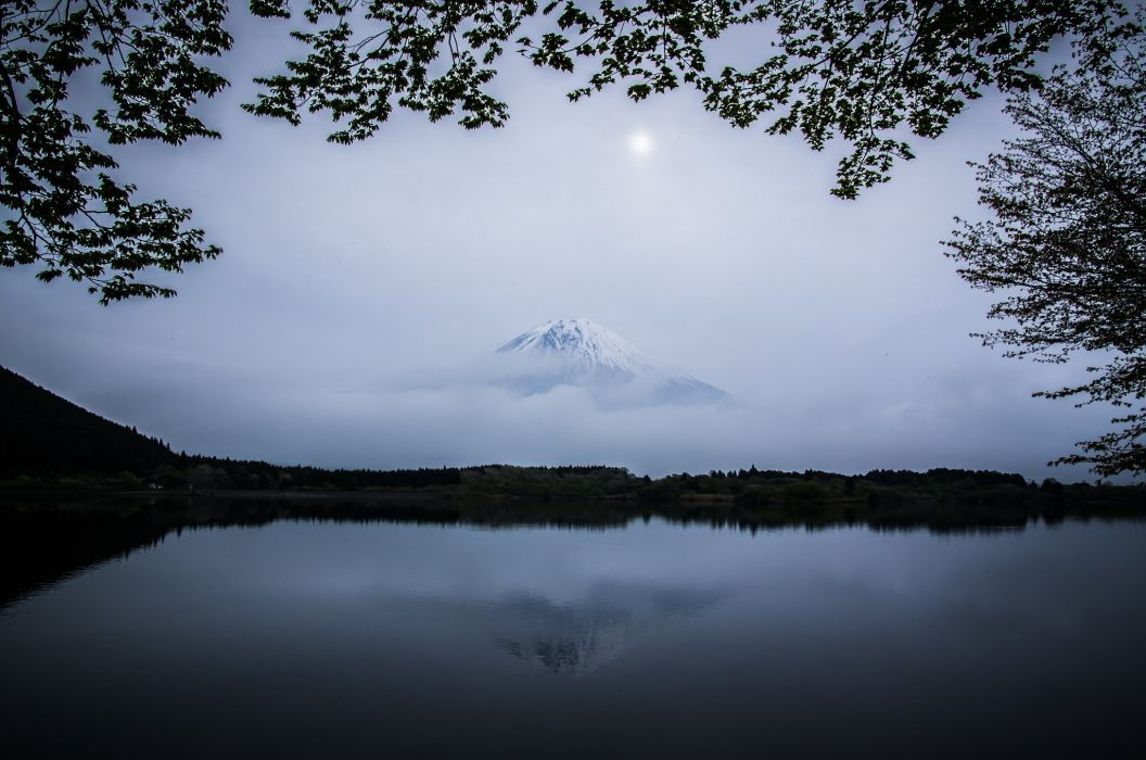 volcano japan mountain japan lake fuji wallpaper