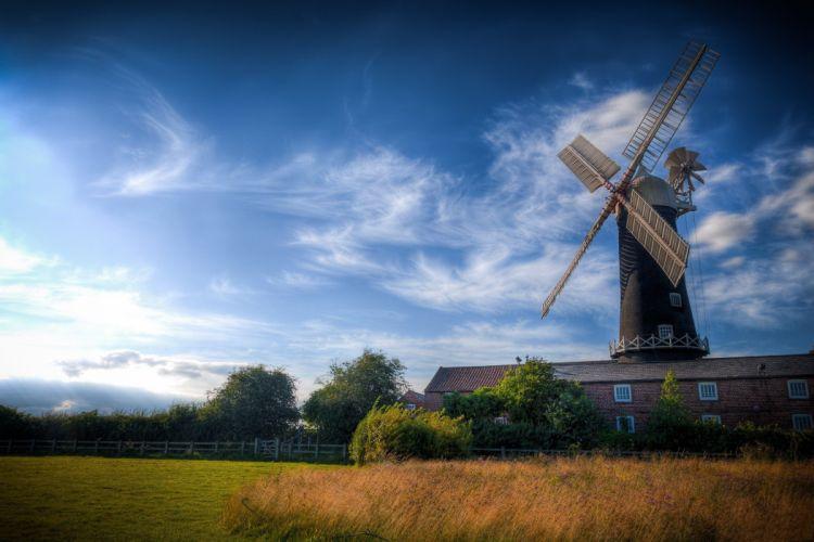 windmill farm mill wind power landscape rustic (5) wallpaper