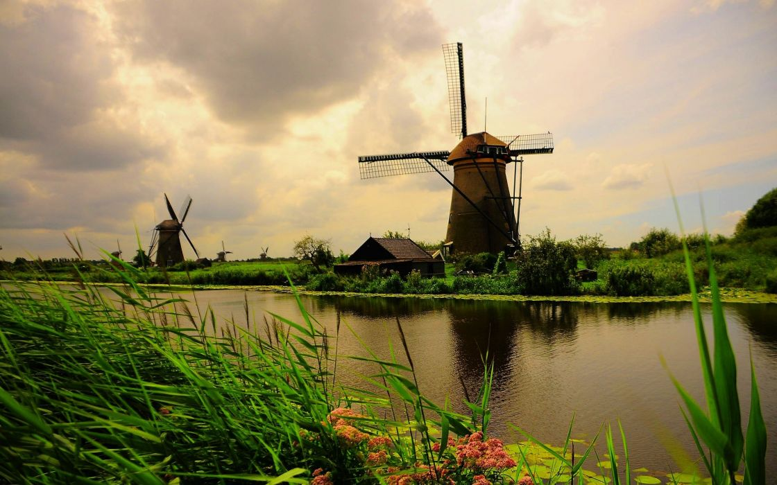 windmill farm mill wind power landscape rustic (9) wallpaper