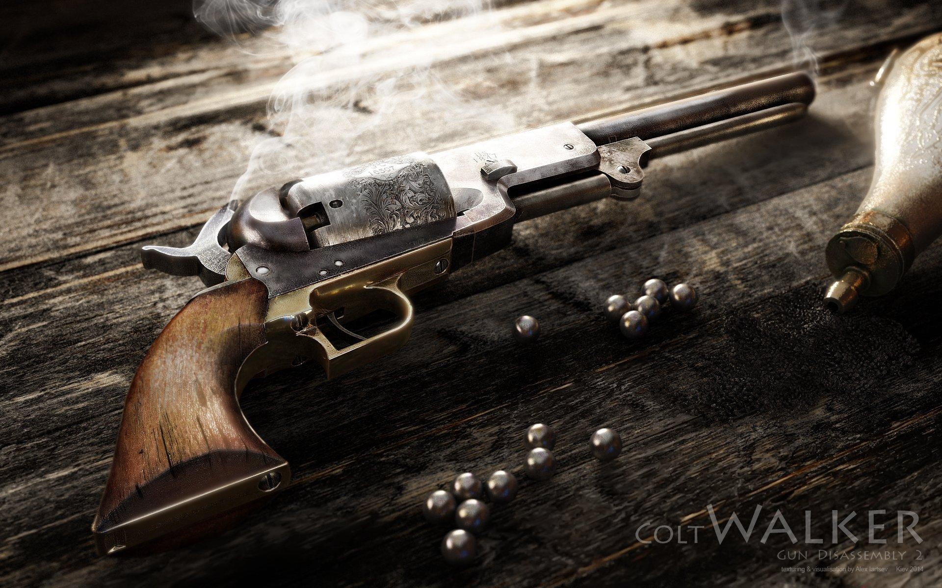 Colt Walker Weapon Pistol Western Wallpaper