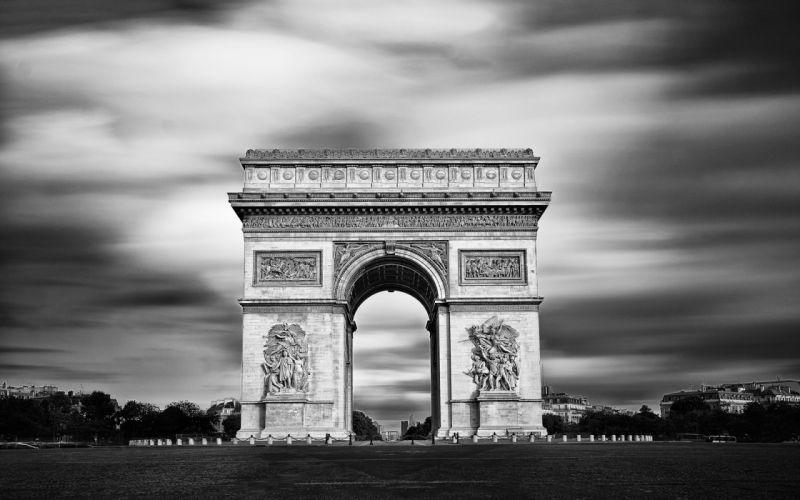 Arc de TriompheParis france B-W Arch f wallpaper