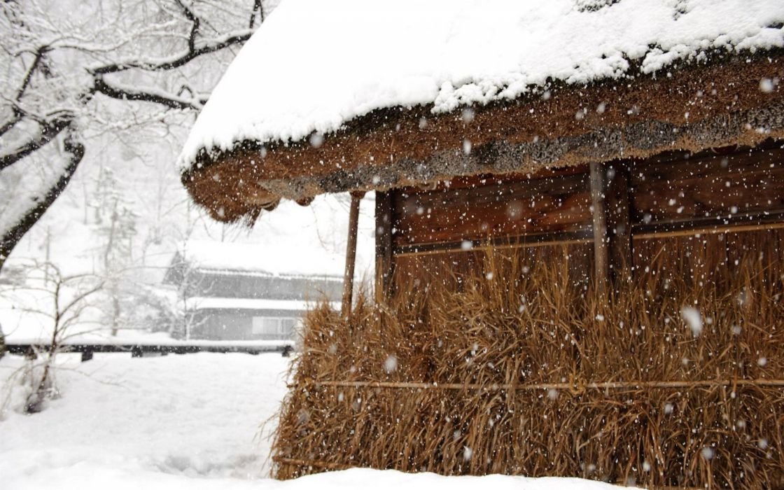 japan snow houses Nation Japan wallpaper