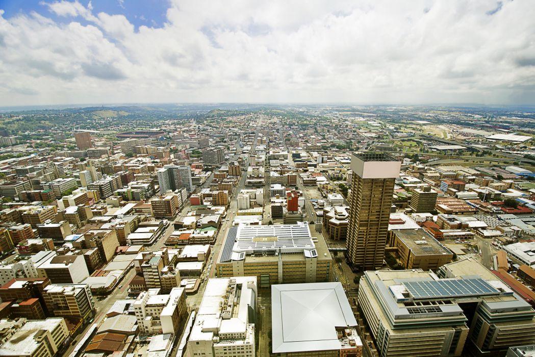 South Africa Houses Sky Johannesburg Megapolis wallpaper