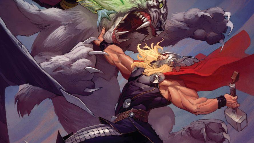 ThorMjolnir Hammer Marvel Creature Drawing wallpaper