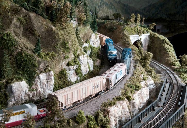 MODEL-TRAIN train toy model railroad minature trains tracks wallpaper