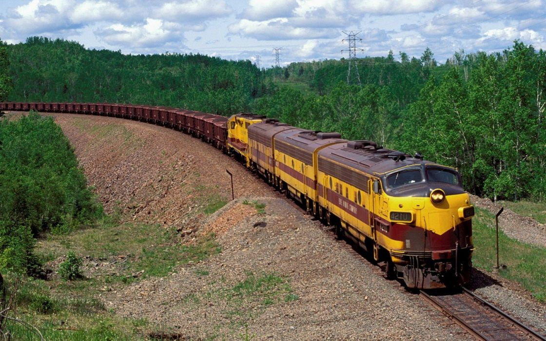 train railroad trains engine locomotive wallpaper