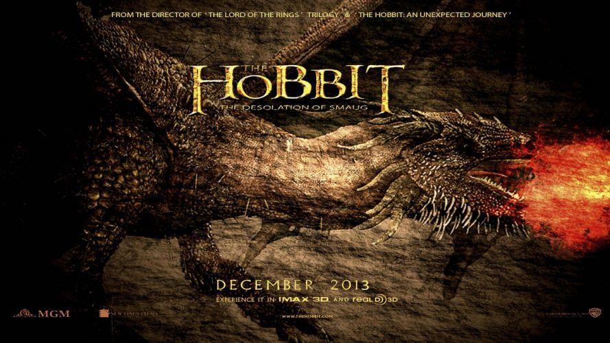 HOBBIT DESOLATION SMAUG lotr lord rings adventure fantasy wallpaper