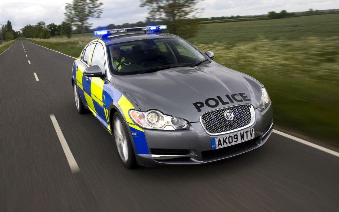 Jaguar Police Car wallpaper