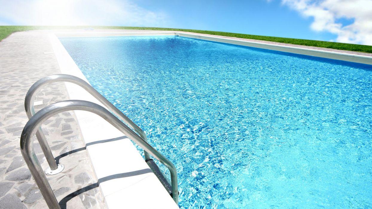 SWIMMING POOL water design wallpaper