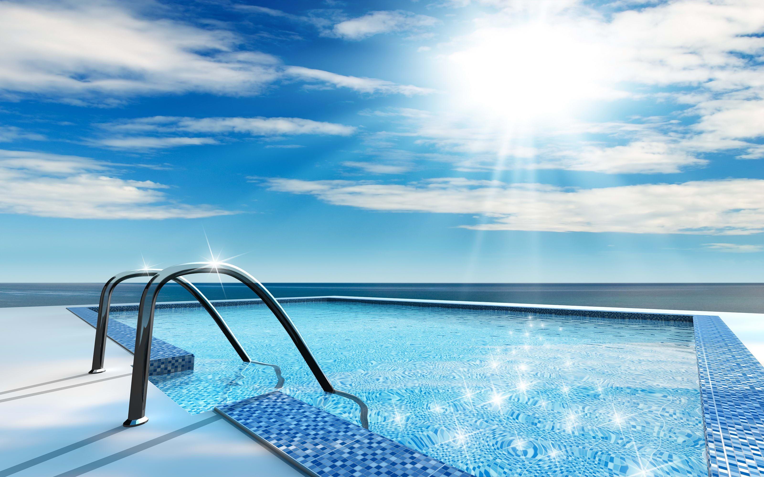 Water Design Wallpaper : Swimming pool water design wallpaper