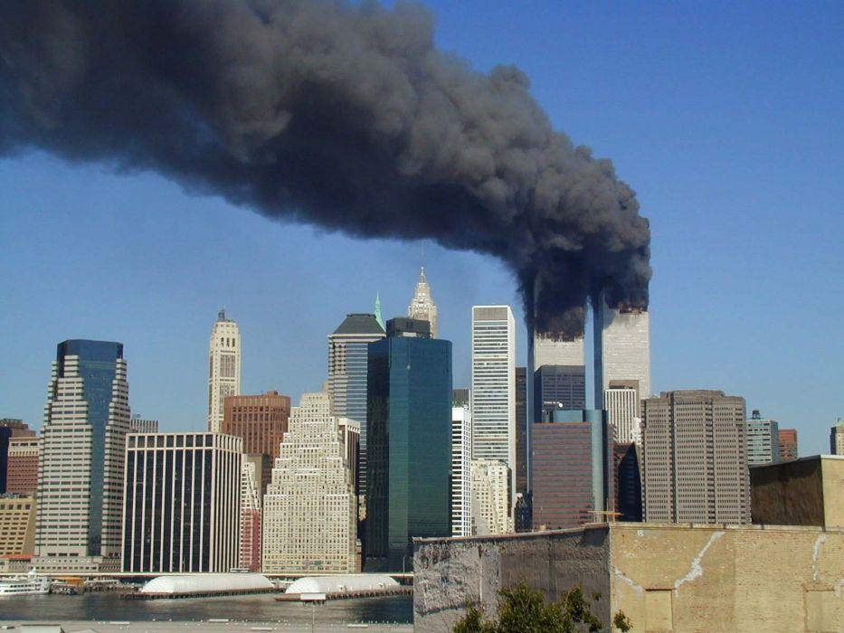 WTC WORLD TRADE CENTER skyscraper city cities building new york terrorist attack apacolyptic disaster sad america usa wallpaper