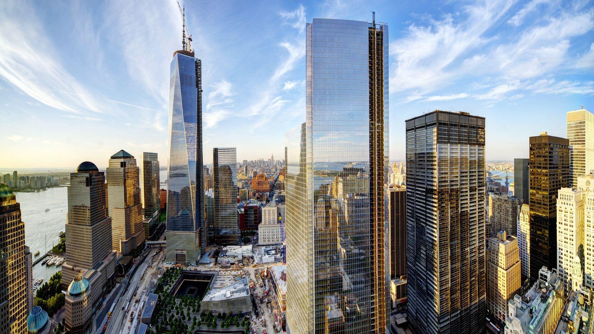 Wtc World Trade Center Skyscraper City Cities Building New York