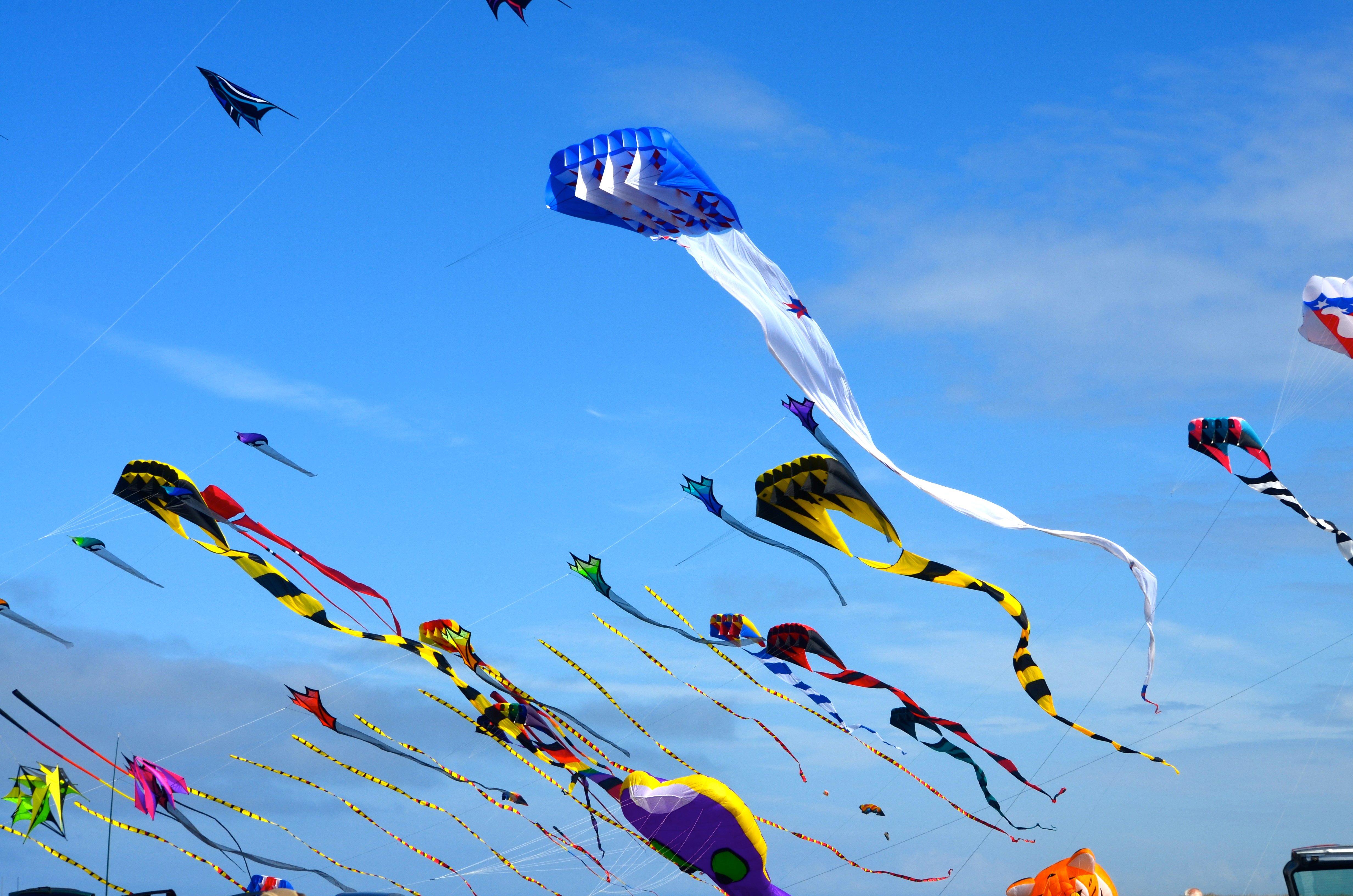 Kite flying bokeh flight fly summer hobby sport sky toy ...