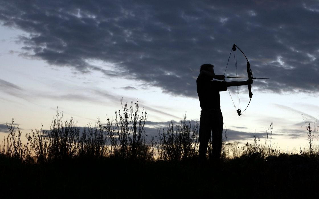 BOW HUNTING archery archer bow arrow hunting weapon wallpaper