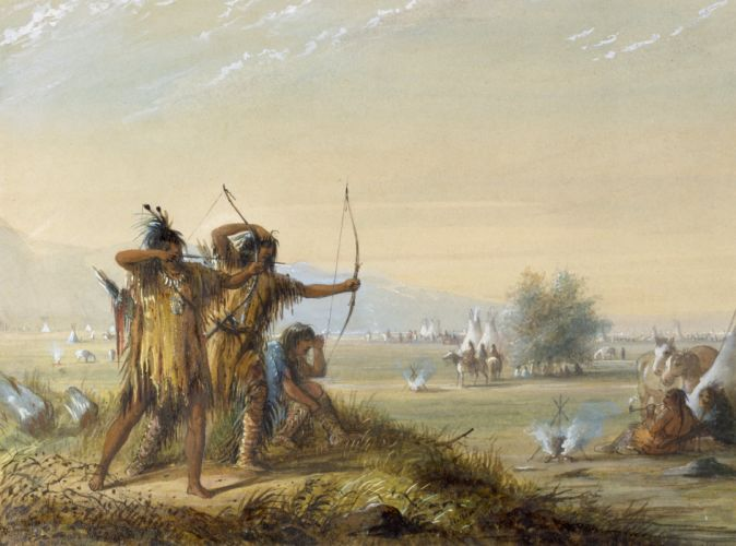 BOW HUNTING archery archer bow arrow hunting weapon native american indian western wallpaper