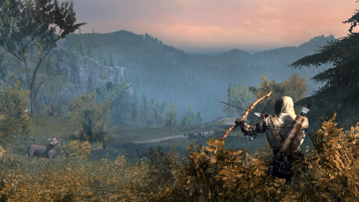 BOW HUNTING archery archer bow arrow hunting weapon assassins creed wallpaper