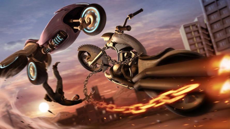 LOCOCYCLE motorcycle racing race fighting bike motorbike (16) wallpaper