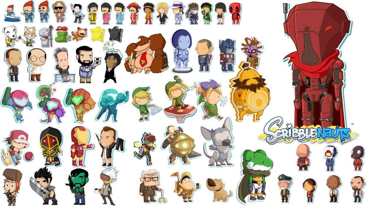 SCRIBBLENAUTS puzzle action family scrolling superhero (1) wallpaper