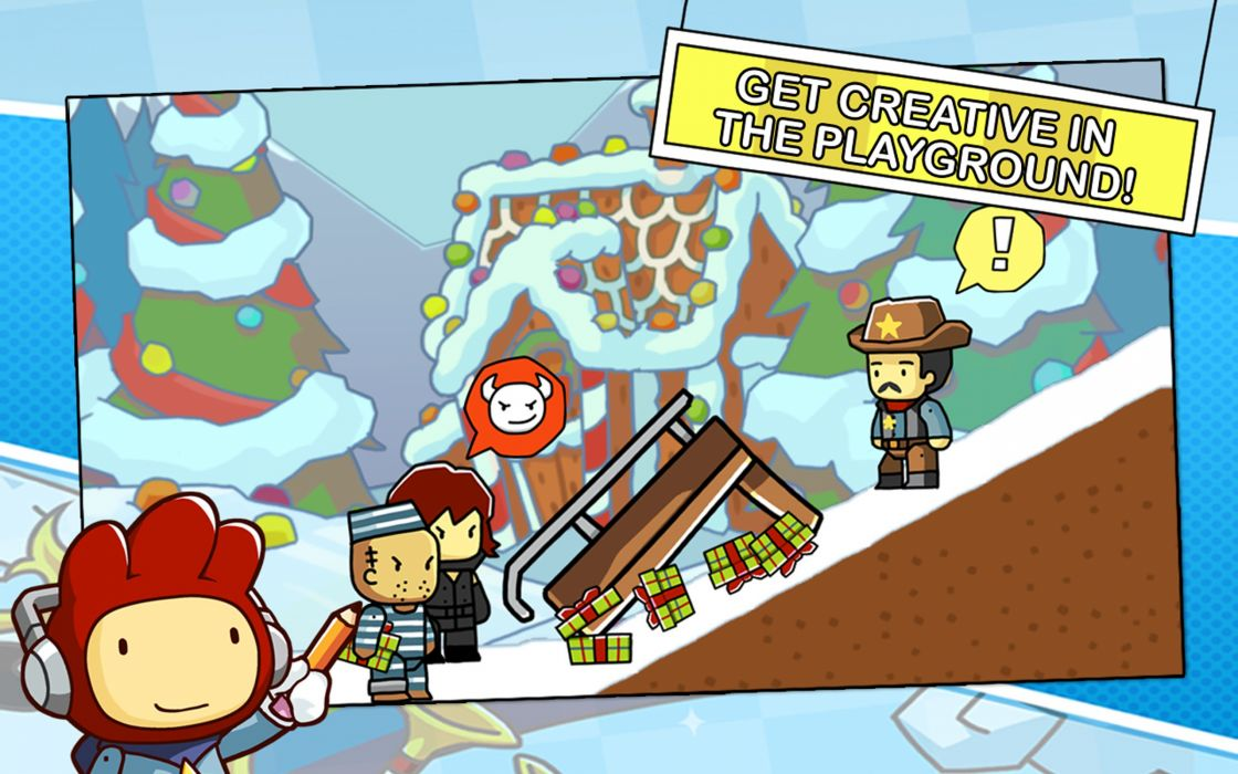 SCRIBBLENAUTS puzzle action family scrolling superhero (7) wallpaper